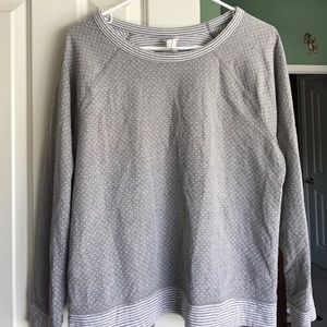 Grey and white sweatshirt from Banana Republic